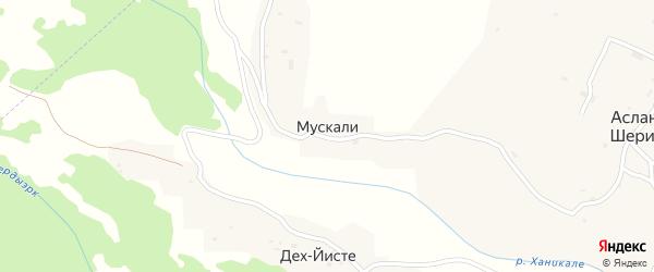 Улица С.Мидаева на карте села Мускали с номерами домов