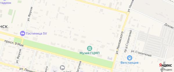 Территория Промзона 1 на карте Знаменска с номерами домов