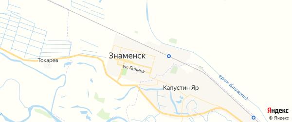 Карта Знаменска с районами, улицами и номерами домов