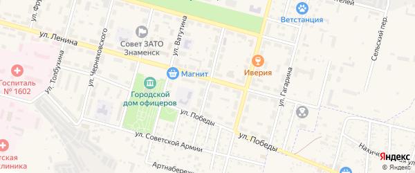 Улица Островского на карте Знаменска с номерами домов
