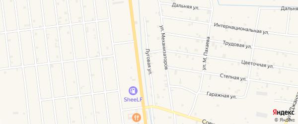 Луговая улица на карте села Старые-Атаги с номерами домов