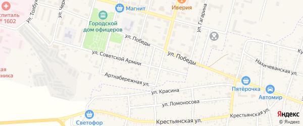 Территория Первый переулок на карте Знаменска с номерами домов