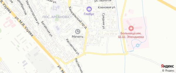 Телеграфная улица на карте Грозного с номерами домов