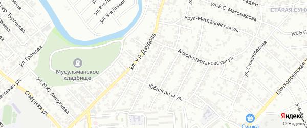 Улица Дружбы Народов на карте Грозного с номерами домов