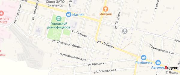 Улица Победы на карте Знаменска с номерами домов