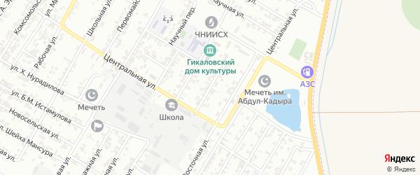 Октябрьская улица на карте поселка Гикало с номерами домов
