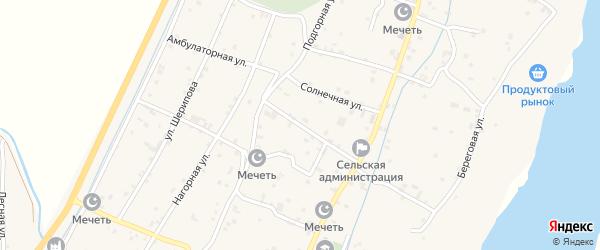 Амбулаторная улица на карте села Старые-Атаги с номерами домов