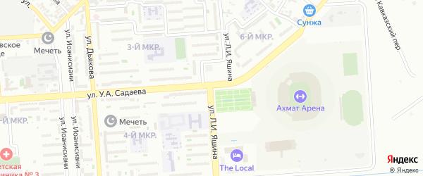Улица им Льва И. Яшина на карте Грозного с номерами домов