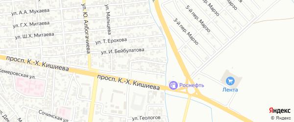 Ханкальский переулок на карте Грозного с номерами домов