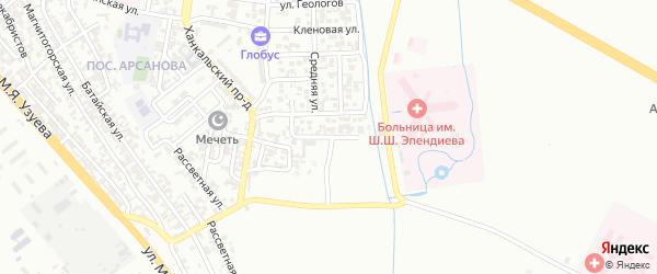 Тракторная улица на карте Грозного с номерами домов