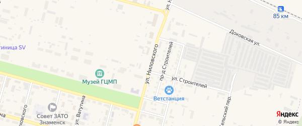 Улица Ниловского на карте Знаменска с номерами домов