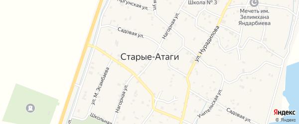 Магистральная улица на карте села Старые-Атаги с номерами домов