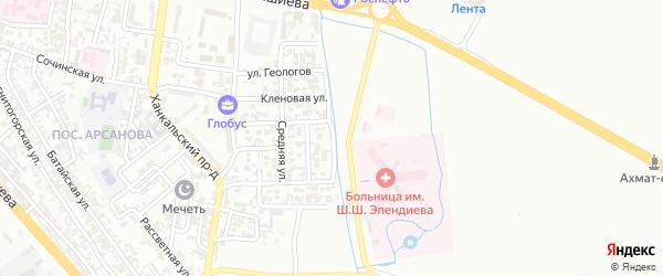 Широкая улица на карте Грозного с номерами домов