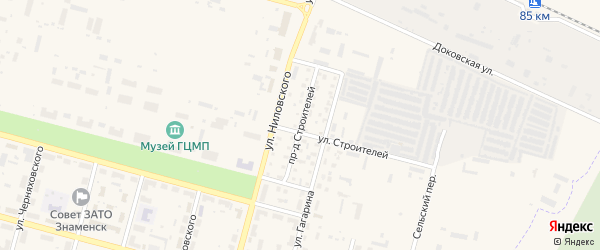 Улица Строителей на карте Знаменска с номерами домов