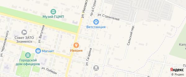 Улица Гагарина на карте Знаменска с номерами домов