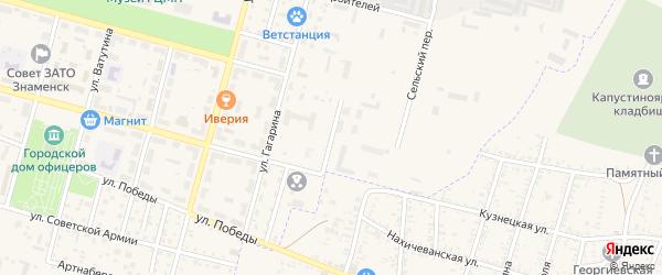 Армейский переулок на карте Знаменска с номерами домов