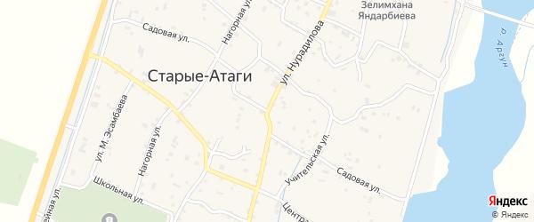 Садовая улица на карте села Старые-Атаги с номерами домов