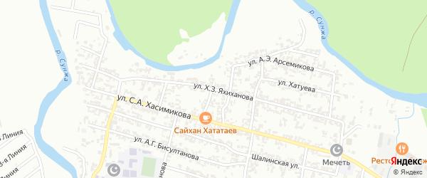 Улица имени Мухади Дадаева на карте Грозного с номерами домов