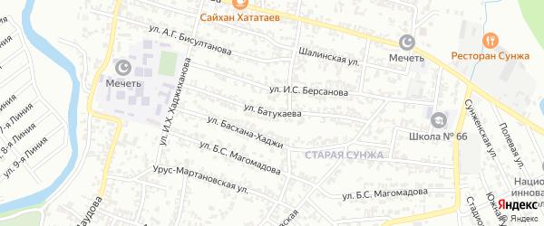Улица Батукаева на карте Грозного с номерами домов