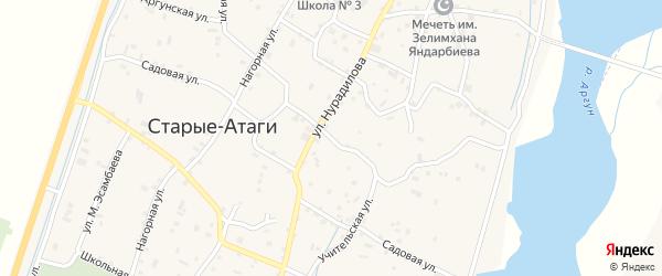 Аргунская улица на карте села Старые-Атаги с номерами домов