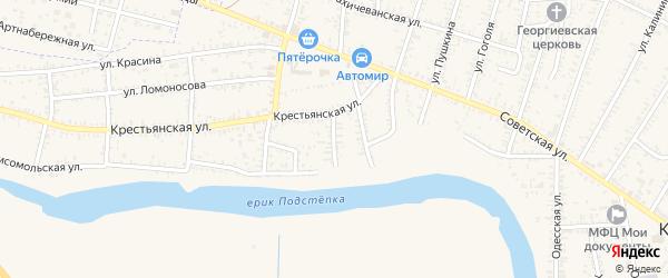 Улица Боканева на карте села Капустина Яра с номерами домов
