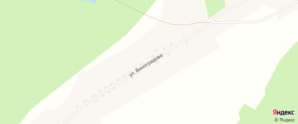 Улица Виноградова на карте поселка Ерги с номерами домов
