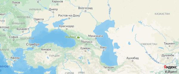 Карта Чечни с городами и районами