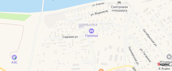 Садовая улица на карте Лешуконского села с номерами домов