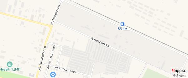 Доковская улица на карте Знаменска с номерами домов