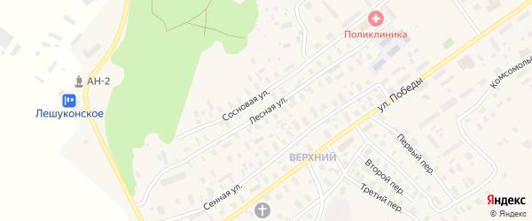 Лесная улица на карте Лешуконского села с номерами домов