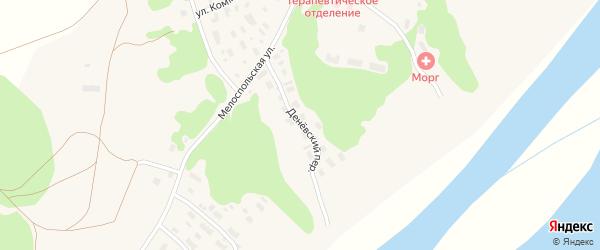 Денёвский переулок на карте Лешуконского села с номерами домов