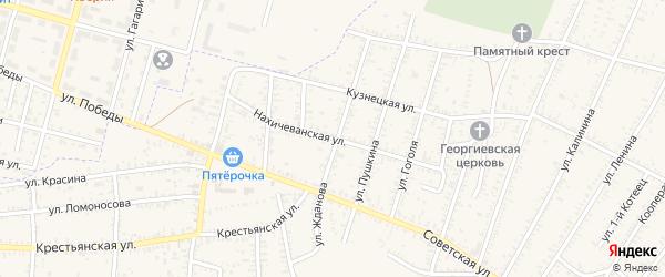 Нахичеванская улица на карте села Капустина Яра с номерами домов