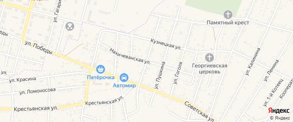 Улица Жданова на карте села Капустина Яра с номерами домов