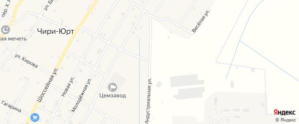 Полевая улица на карте поселка Чири-Юрт с номерами домов