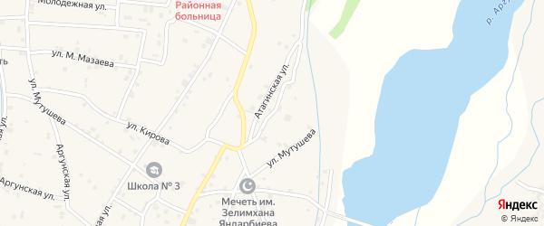 Атагинская улица на карте села Старые-Атаги с номерами домов
