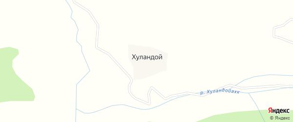 Подгорная улица на карте села Хуландой с номерами домов