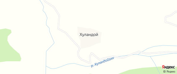 Лесная улица на карте села Хуландой с номерами домов