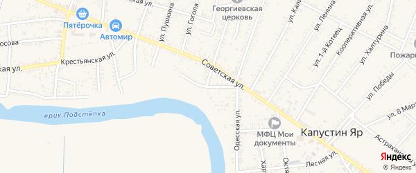 Набережная улица на карте села Капустина Яра с номерами домов