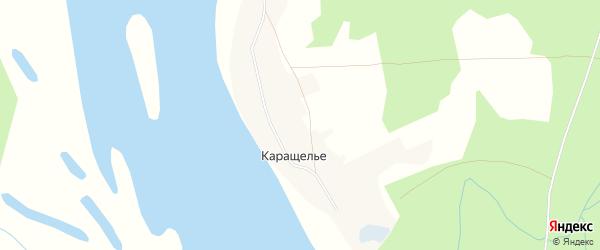 Карта деревни Каращелья в Архангельской области с улицами и номерами домов