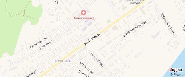 Улица Победы на карте Лешуконского села с номерами домов