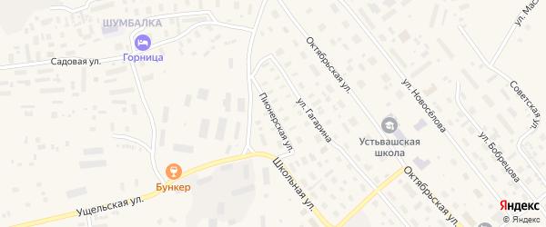 Пионерская улица на карте Лешуконского села с номерами домов