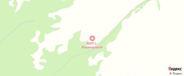 Горная улица на карте села Вашендарой с номерами домов
