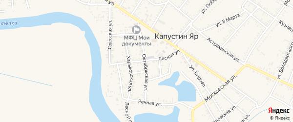 Лесная улица на карте села Капустина Яра с номерами домов