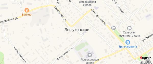 Военный городок на карте Лешуконского села с номерами домов