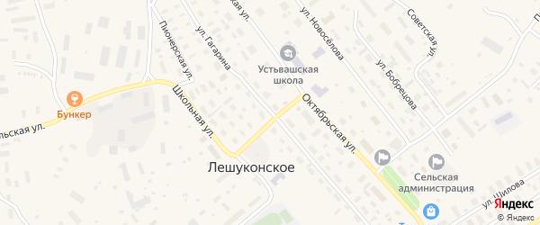 Улица Гагарина на карте Лешуконского села с номерами домов