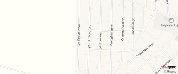 Улица Л.Н.Толстого на карте села Толстого-Юрта с номерами домов