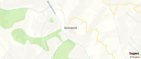 Карта села Шикарой в Чечне с улицами и номерами домов