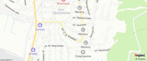 Молодежная улица на карте Пригородного села с номерами домов
