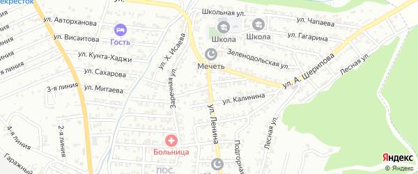 Комсомольская улица на карте Пригородного села с номерами домов