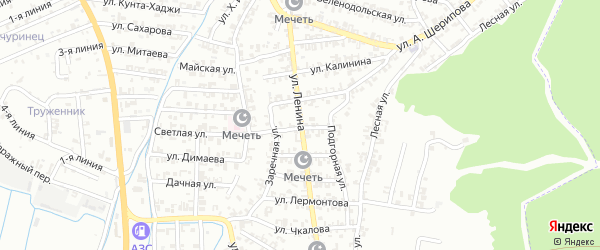 Улица М.Мамакаева на карте Пригородного села с номерами домов